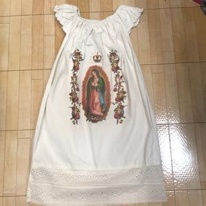 New Mexican Handmade Dress Girls Lady of Guadalupe